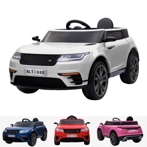 kids range rover velar style electric ride on car jeep white in white