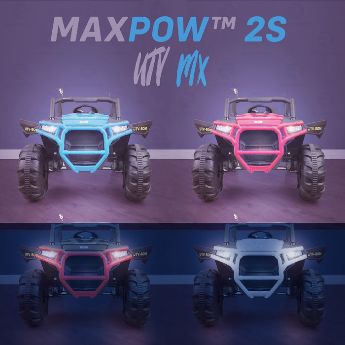 kids utv mx electric ride on utv car quad with parental remote night light riiroo maxpow 2s buggy 2wd