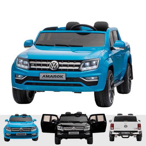 kids vw amarok 12v battery electric ride on car with remote blue2 Blue licensed range wagon 12v battery electric ride on jeep car remote