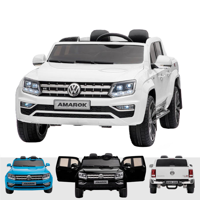 kids vw amarok 12v battery electric ride on car with remote white2 White licensed range wagon 12v battery electric ride on jeep car remote