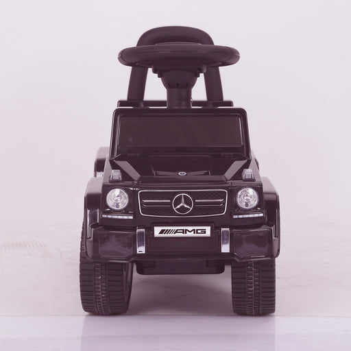 kidspush along mercedes g63 amg with seat storage media centre ride on car 2 front direct kids push box and black