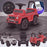 kidspush along mercedes g63 amg with seat storage media centre ride on car red kids push box and pink