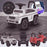 kidspush along mercedes g63 amg with seat storage media centre ride on car white kids push box and pink