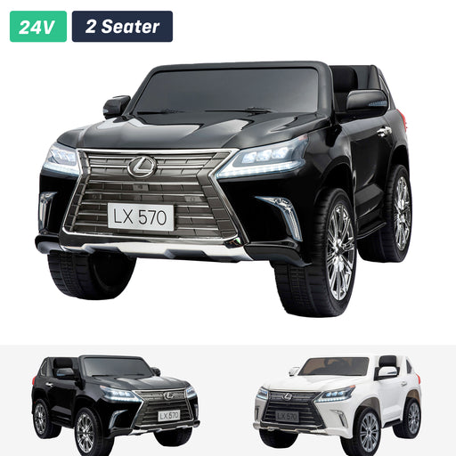 lexus lx 570 licensed 12v battery electric ride on car with remote black2 1 ride on car in black