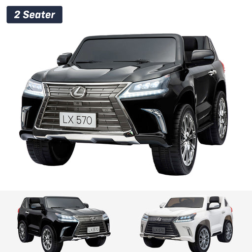 lexus lx 570 licensed 12v battery electric ride on car with remote black2 1 Black licensed kids 4wd ride on car suv remote control music 24v