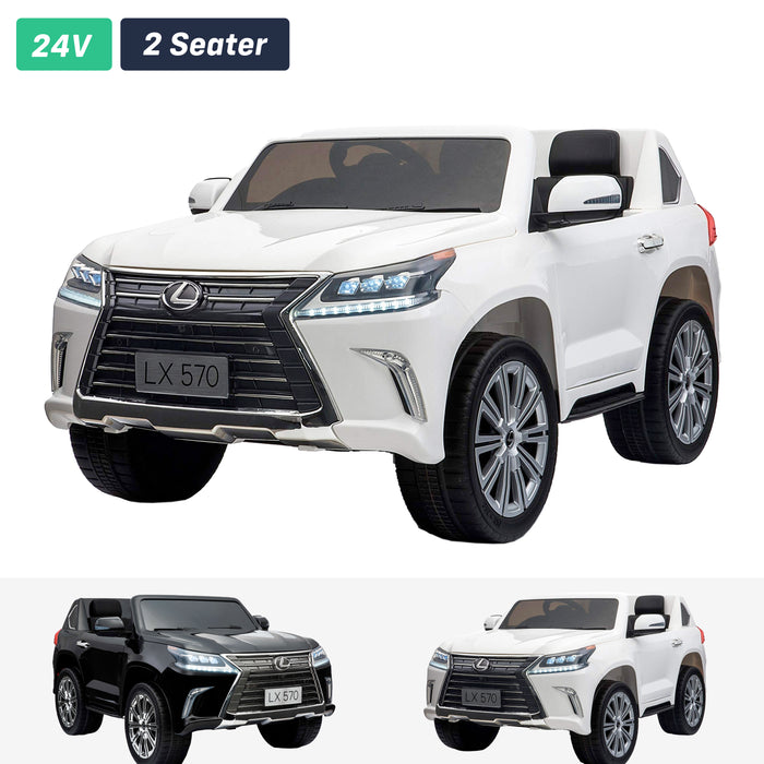 lexus lx 570 licensed 12v battery electric ride on car with remote white2 1 ride on car in white