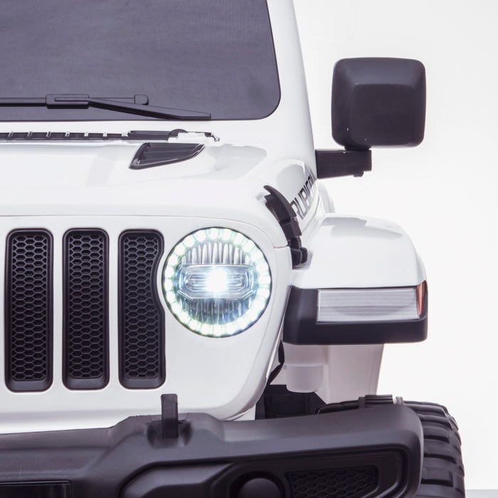 licensed kids 12v jeep wrangler rubicon ride on car jeep with parental remote control front lights 2wd painted grey