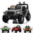 licensed kids 12v jeep wrangler rubicon ride on car jeep with parental remote control gray 2wd painted grey