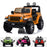 licensed kids 12v jeep wrangler rubicon ride on car jeep with parental remote control orange Painted Orange 2wd
