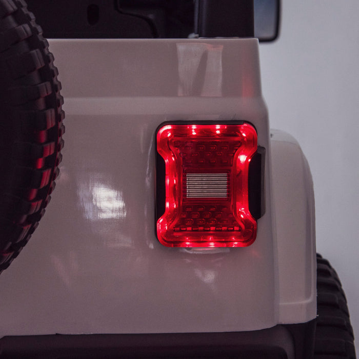 licensed kids 12v jeep wrangler rubicon ride on car jeep with parental remote control rear lights 2wd painted grey