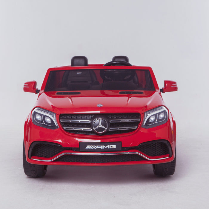 licensed kids 24v mercedes benz gls 63s amg ride on car jeep with parental remote control two seater front direct red 2 63 electric 4wd painted grey
