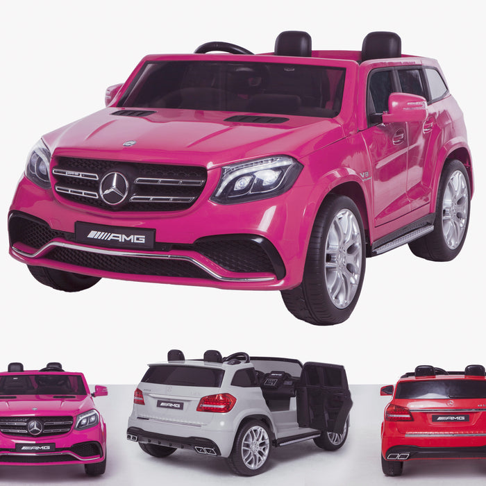 licensed kids 24v mercedes benz gls 63s amg ride on car jeep with parental remote control two seater pink Pink 63 electric 4wd