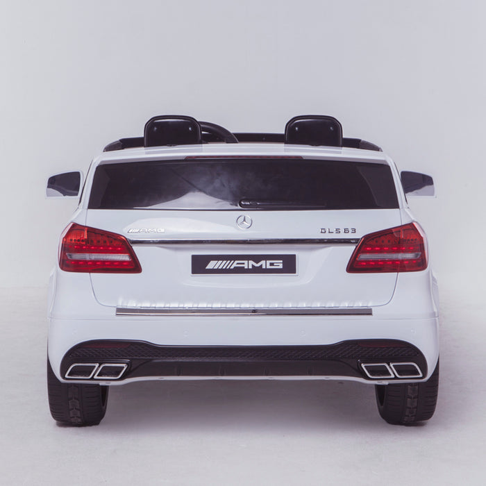 licensed kids 24v mercedes benz gls 63s amg ride on car jeep with parental remote control two seater rear direct white 2 63 electric 4wd white