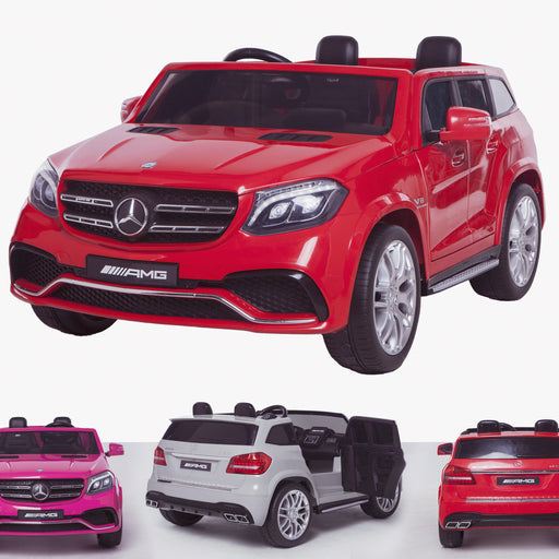 licensed kids 24v mercedes benz gls 63s amg ride on car jeep with parental remote control two seater red 2 63 electric 4wd red
