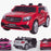 licensed kids 24v mercedes benz gls 63s amg ride on car jeep with parental remote control two seater red Red 63 electric 4wd