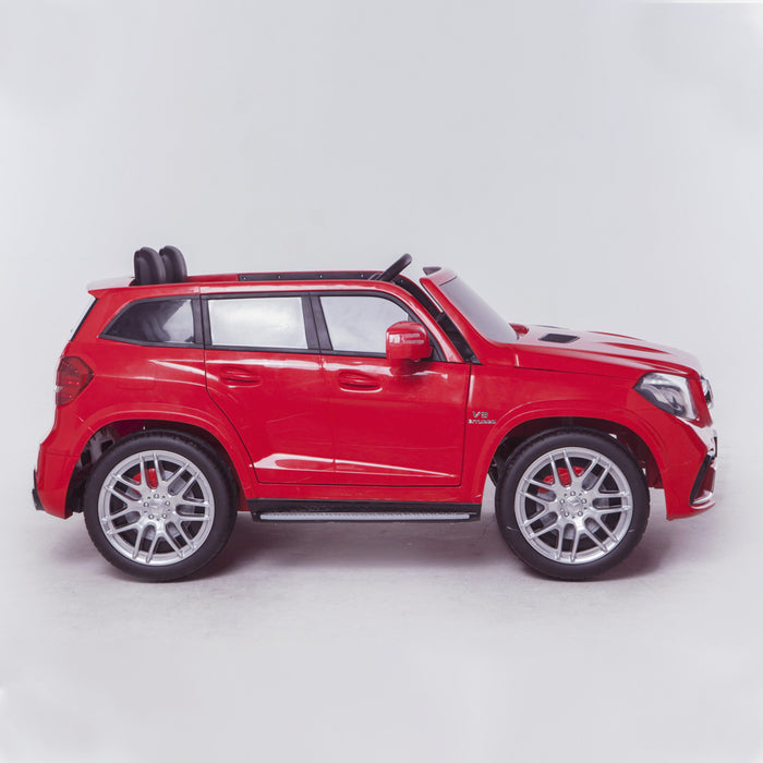 licensed kids 24v mercedes benz gls 63s amg ride on car jeep with parental remote control two seater side red 2 63 electric 4wd painted grey