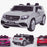 licensed kids 24v mercedes benz gls 63s amg ride on car jeep with parental remote control two seater white White 63 electric 4wd