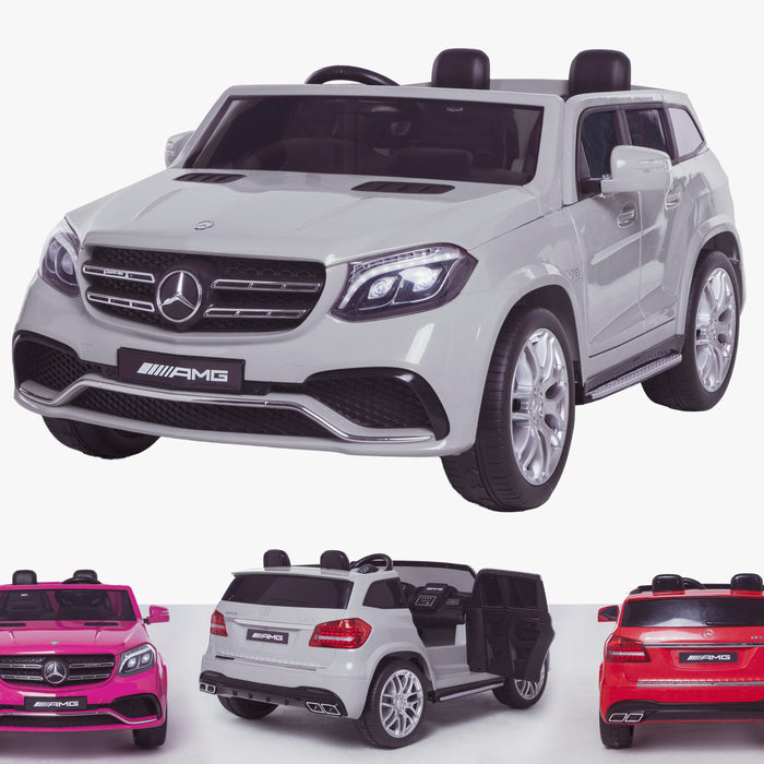 licensed kids 24v mercedes benz gls 63s amg ride on car jeep with parental remote control two seater white 2 63 electric 4wd white