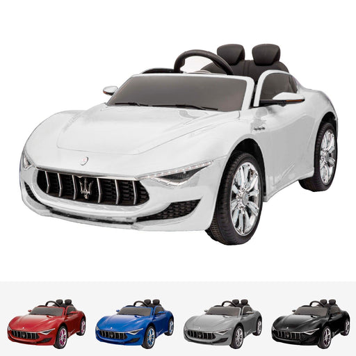 maserati alfieri licensed 12v battery electric ride on car with remote white2 White kids licensed maserati alfieri 12v electric motor battery operated ride on car 2