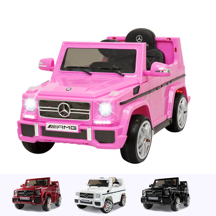 mercedes benz g65 amg licensed 12v battery electric ride on car with remote pink2 Pink kids electric ride on car 12v with parental remote