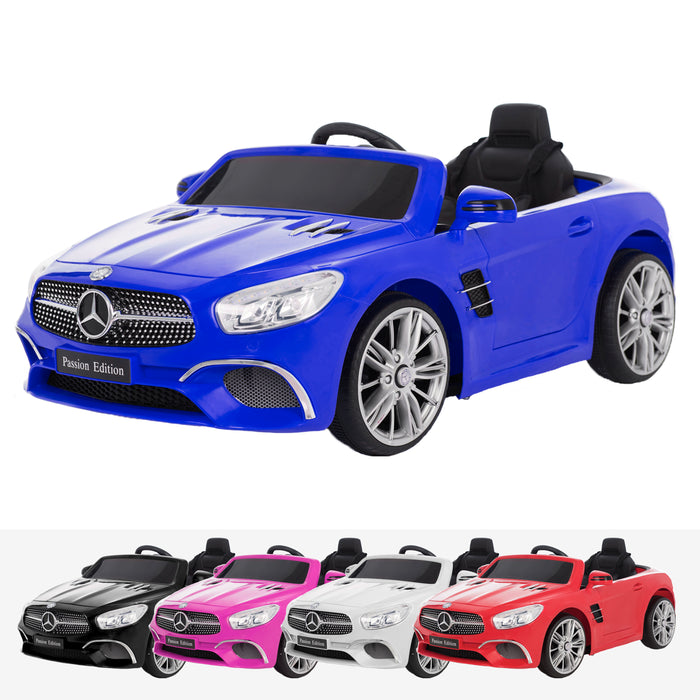 mercedes benz sl400 licensed 12v battery electric ride on car with remote blue2 31148734251056 licensed electric ride on car battery powered with remote music pink
