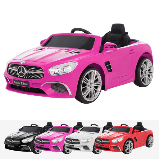 mercedes benz sl400 licensed 12v battery electric ride on car with remote pink2 Pink licensed electric ride on car battery powered with remote music
