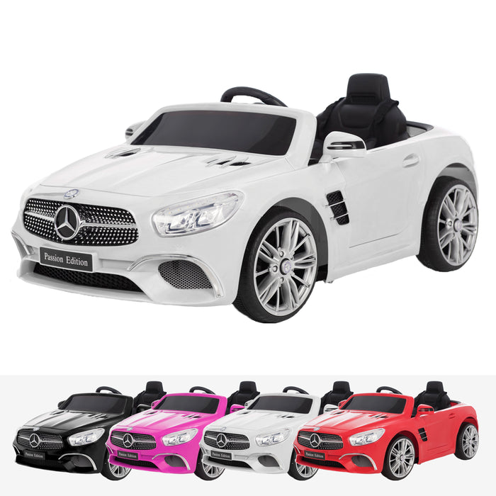 mercedes benz sl400 licensed 12v battery electric ride on car with remote white2 licensed electric ride on car battery powered with remote music pink