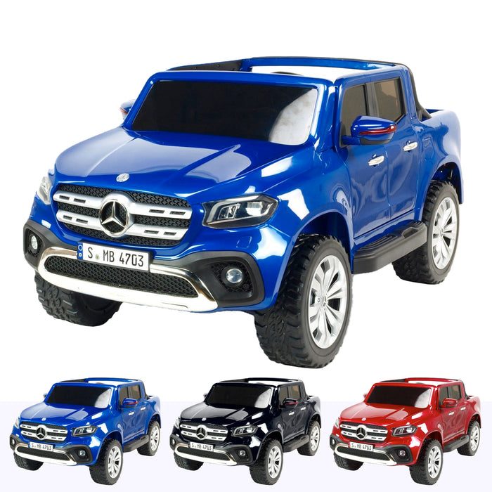 mercedes benz x class amg licensed 12v battery electric ride on car with remote blue2 Blue licensed pickup 24v 4wd electric battery ride on car