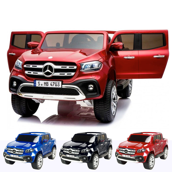 mercedes benz x class amg licensed 12v battery electric ride on car with remote red3 Red licensed pickup 24v 4wd electric battery ride on car