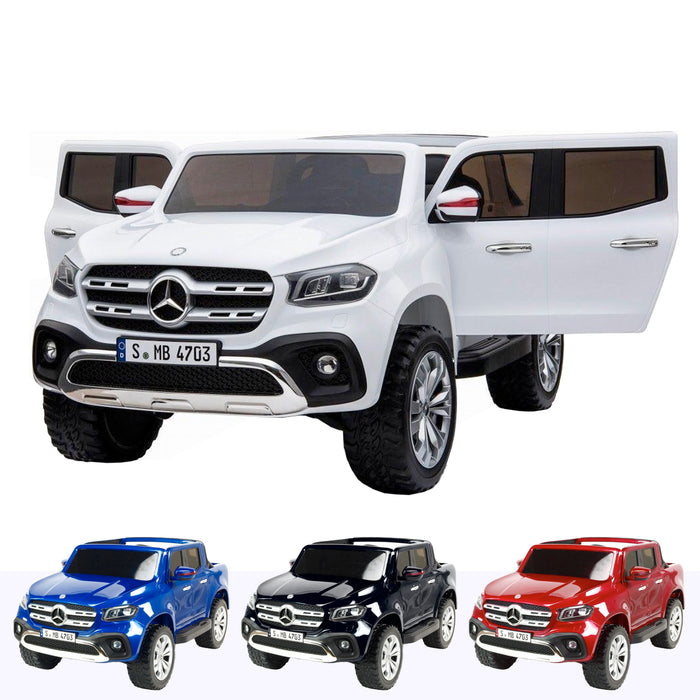 mercedes benz x class amg licensed 12v battery electric ride on car with remote white2 White licensed pickup 24v 4wd electric battery ride on car