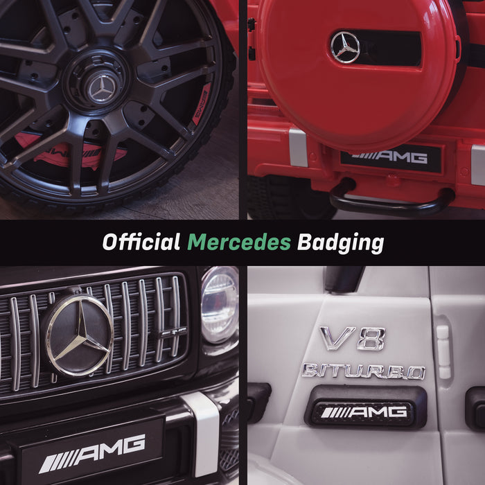 mercedes g63 amg 2019 badging licensed ride on car in black