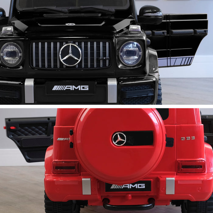 mercedes g63 amg 2019 black red licensed ride on car in