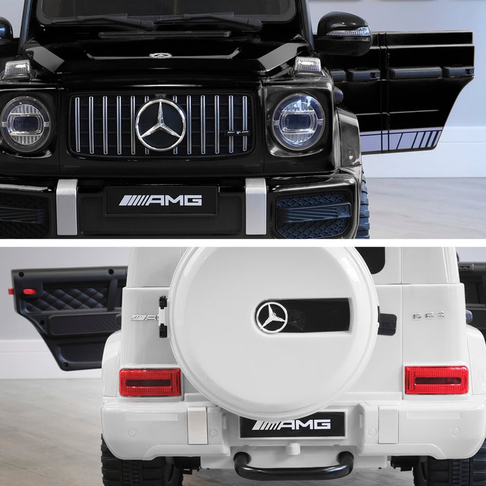 mercedes g63 amg 2019 black white licensed ride on car in