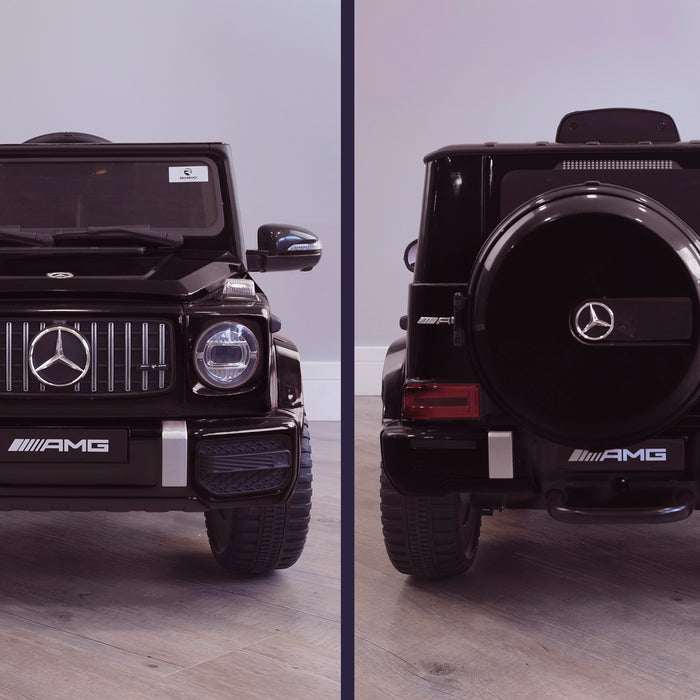 mercedes g63 amg 2019 front rear3 black licensed ride on car in