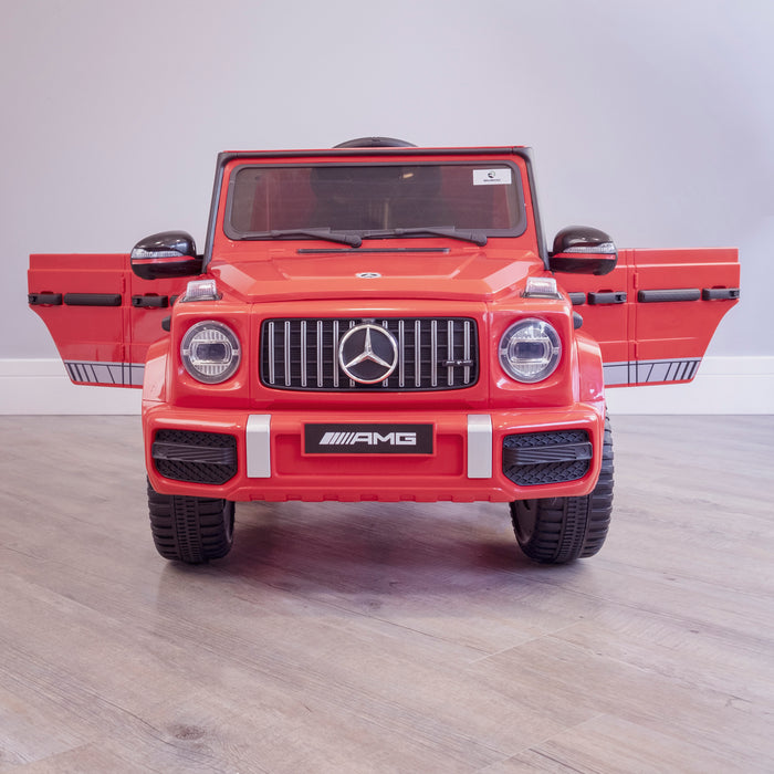 mercedes g63 amg 2019 front red licensed ride on car in