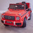mercedes g63 amg 2019 front side red licensed ride on car in