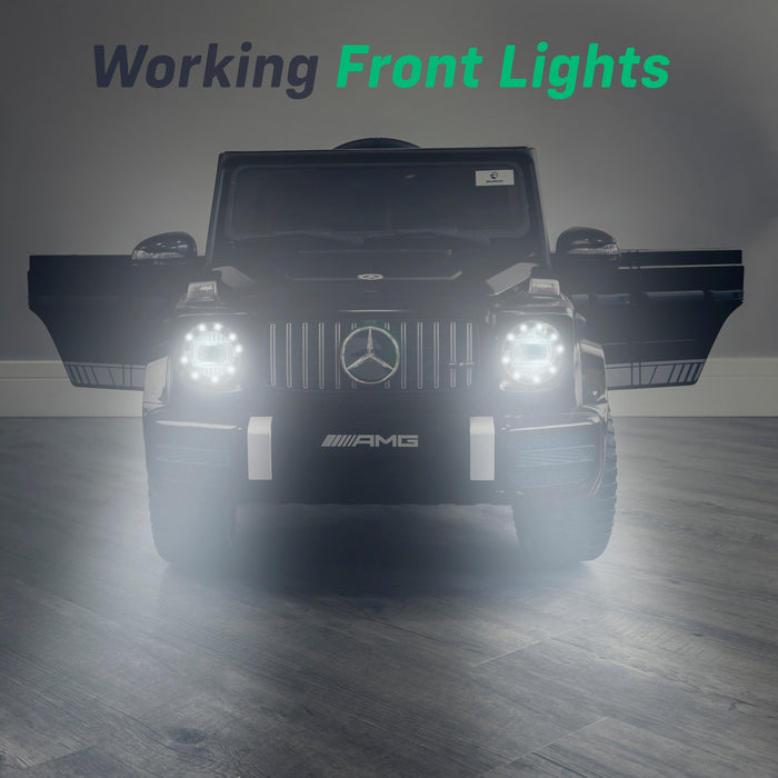 mercedes g63 amg 2019 lights black2 licensed ride on car in black