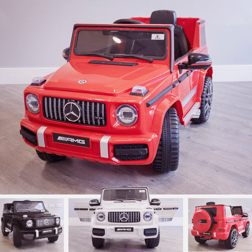 mercedes g63 amg 2019 red licensed ride on car in
