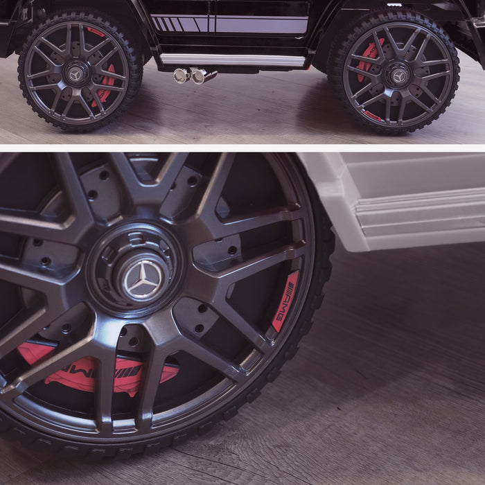 mercedes g63 amg 2019 wheels licensed ride on car in black