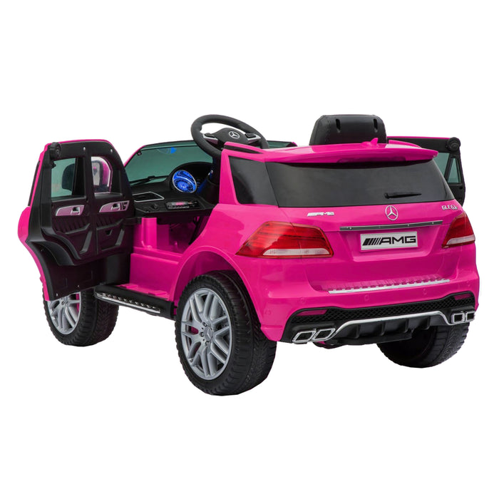 mercedes gle 63s kids electric ride on battery operated car with parental remote control pink back doors licensed amg 63 s 12v power wheels