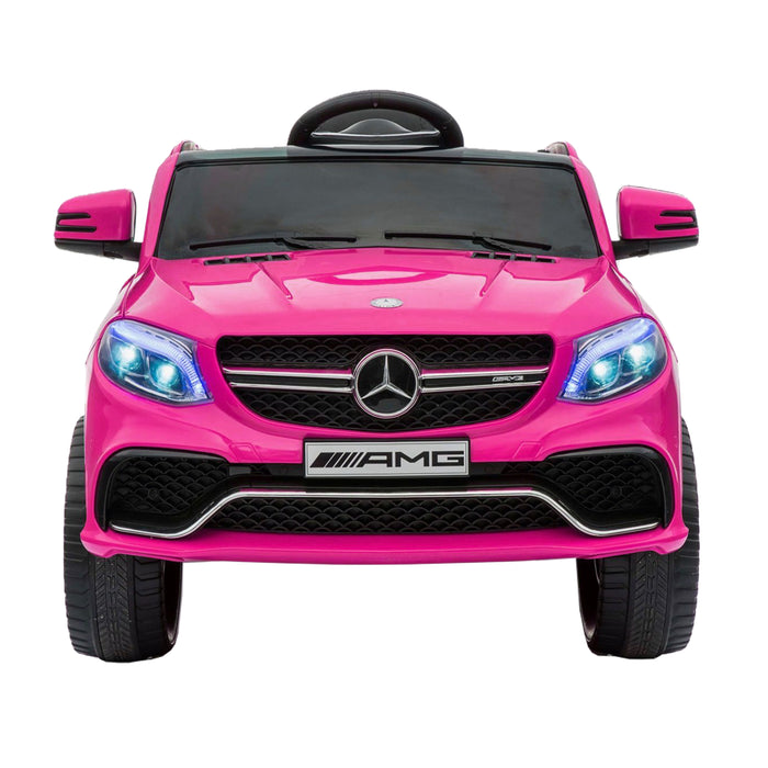 mercedes gle 63s kids electric ride on battery operated car with parental remote control pink front licensed amg 63 s 12v power wheels