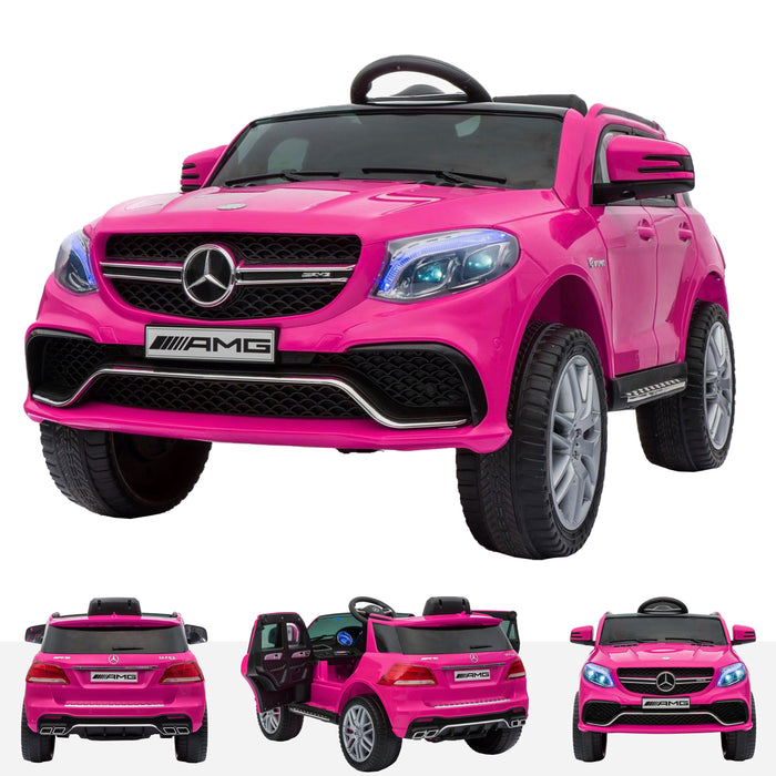 mercedes gle 63s kids electric ride on battery operated car with parental remote control pink main Pink licensed amg 63 s 12v power wheels
