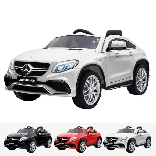 mercedes gle 63 coupe white amg ride on car 12v 2wd white