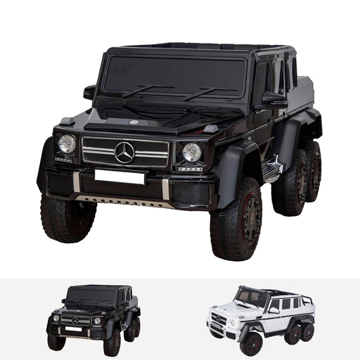 mercedes g63 6x6 black mercedes benz g63 maxi ride on toy in black