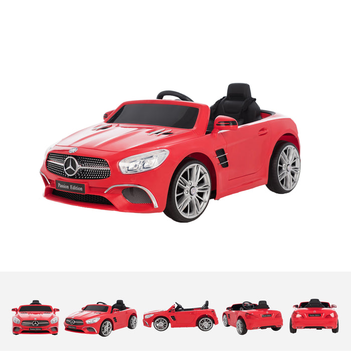 mercedes sl400 red trois quarts licensed mercedes sl400 electric ride on car battery powered with remote music