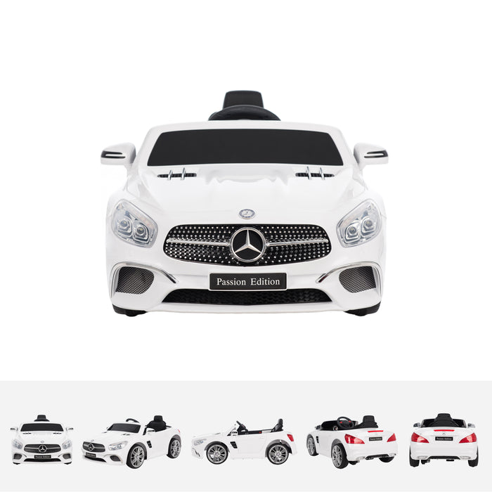 mercedes sl400 white front licensed mercedes sl400 electric ride on car battery powered with remote music