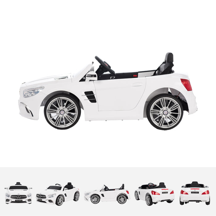 mercedes sl400 white side licensed mercedes sl400 electric ride on car battery powered with remote music