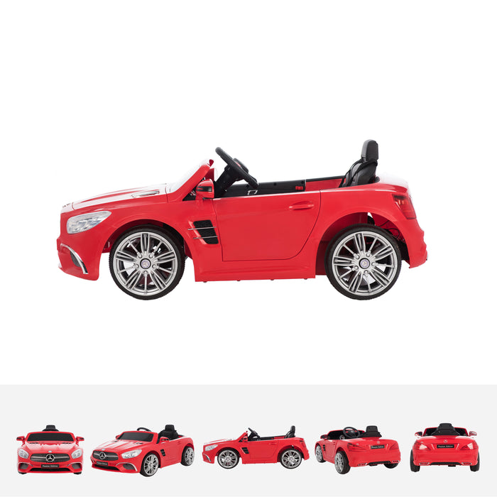 mercedes sl400 red side licensed mercedes sl400 electric ride on car battery powered with remote music