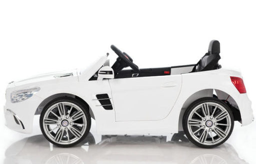 new mercedes benz sl400 licensed kids ride on car toy 3 electric battery powered with remote music white