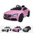 qy1588 mercedes c63 pink Painted Pink riiroo licensed mercedes c63 amg 12v electric battery ride on car remote music